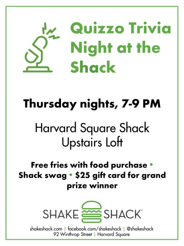 Quizzo Trivia Nights @ Shake Shack, Harvard Square - Shake